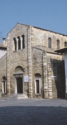 La facciata di Santa Maria delle Grazie.