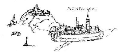 Disegno di Monfalcone, secolo XVII.