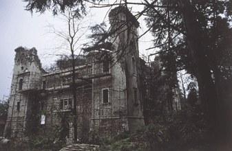 Vista d'insieme del palazzo in fase di recupero (foto 2003).