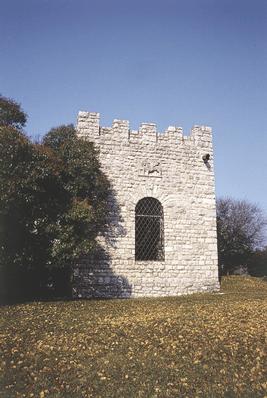 """Tenuta di """"Castelvecchio"""", particolare di una costruzione."""