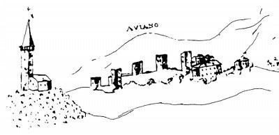 Il Castello in una veduta del XVII secolo