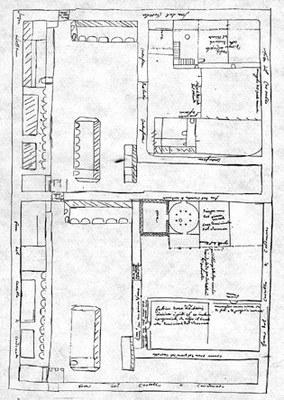 Pianta del castello nel 1679.