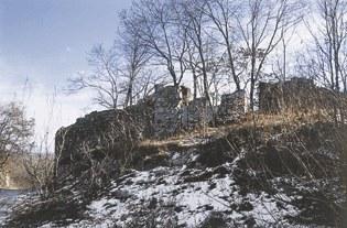 Veduta dei resti del castello.