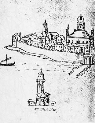 Disegno secentesco di Pordenone, Biblioteca Civica, Udine.