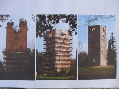 Foto primo restauro della torre