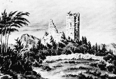 Il castello in un disegno di A. Pontini, Civici Musei, Udine.