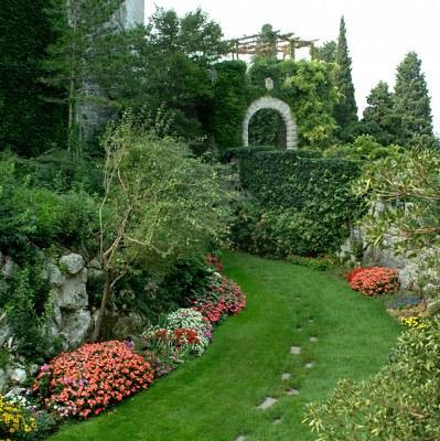 Particolare del parco del Castello di Duino