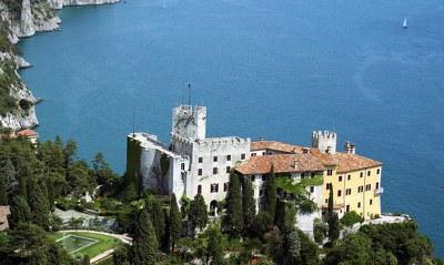 Foto aerea del castello di Duino