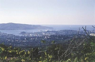 Panoramica sul golfo di Trieste.
