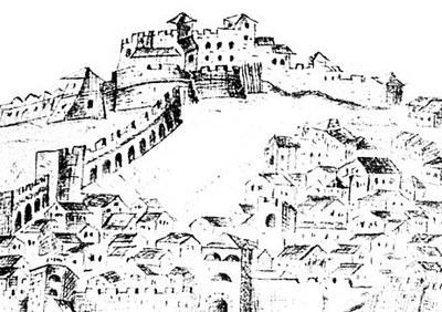 Il castello da un disegno di Petronio, fine '600.