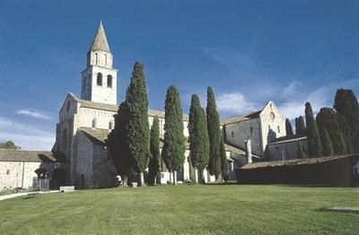 Il complesso monumentale con la Basilica di Aquileia.