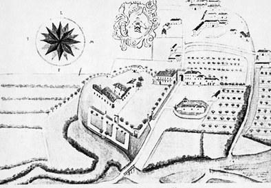 Il castello in un disegno del secolo XVII, collezione F.Bonati Savorgnan d'Osoppo