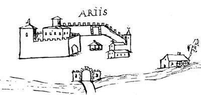 Ariis in un disegno seicentesco, collezione Joppi, Biblioteca Civica, Udine