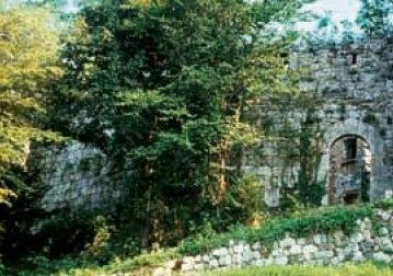 I resti del castello (archivio R. Pirzio Biroli)