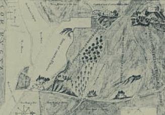 I due castelli in una mappa del 1600 (archivio Savorgnan di Brazzà)