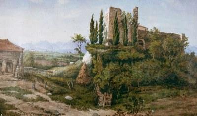 Il castello in una pittura di fine 800