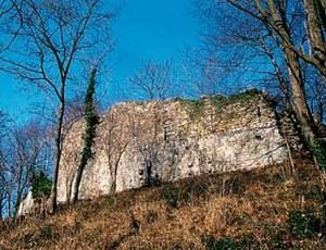 Vista dei resti dell'antico castello medievale di Buja.
