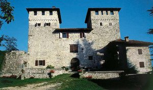 Facciata ovest del castello di Cassacco.