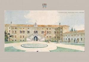 Residenza dei Conti Romano in un immagine d'epoca