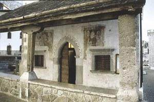 Affreschi nella chiesa di San Giacomo (sec. XV), nel paese di Forni di Sopra.