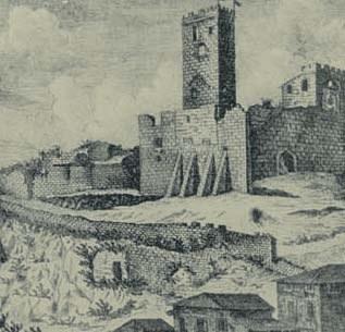 Il castello, incisione di G. G. Liruti, 1771.