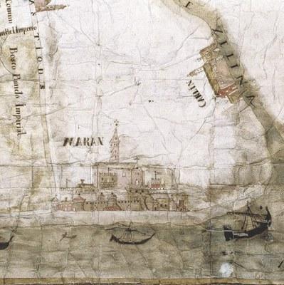 Una veduta storica di Marano, Museo Diocesano.
