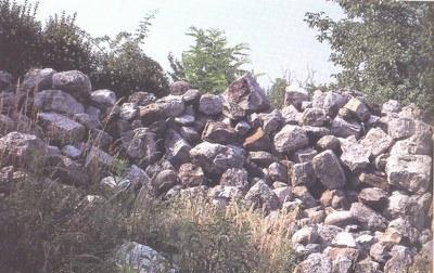 Particolare dei resti del castello