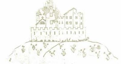 Il castello in un disegno su pergamena datato 1590.