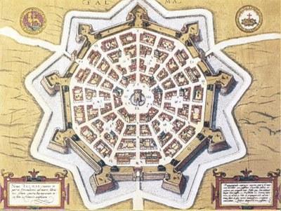 Pianta di Palma, secolo XVII, Museo Civico, Palmanova.