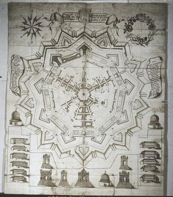 Pianta di Palma di G. Berti (1600), Museo Civico, Palmanova.