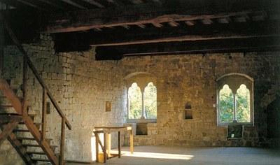 Interno del castello inferiore, recentemente restaurato nelle sue strutture principali.