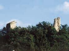 I ruderi del castello dopo il 1976.