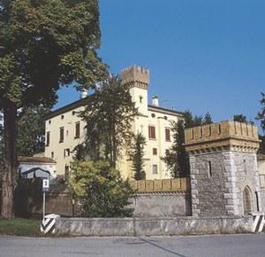 Veduta del complesso castellano di Saciletto.