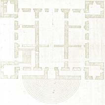 Pianta del castello nel secolo XVII (archivio di Colloredo, Santa Maria la Longa).