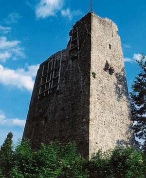 Resti del castello inferiore.