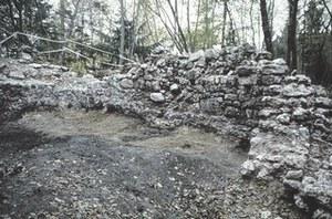 Resti dei muri perimetrali del castello.