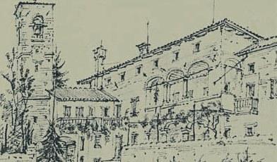 Palazzo Liruti a Villafredda in un disegno di A. Pontini del 1907.